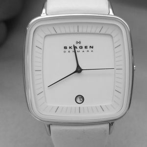 Womens Special Edition Skagen Watch White Leather